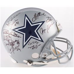 Cowboys Full-Size Authentic On-Field Helmet Team-Signed by (25) With Michael Irvin, Troy Aikman, Emm