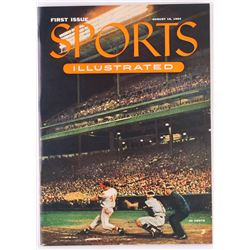 Original First Issue Sports Illustrated Magazine from August 16, 1954 with Leather Folder (Sports Il