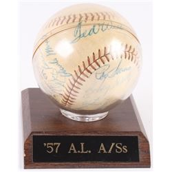 1957 American League All-Star Team Baseball Team-Signed by (24) With Ted Williams, Yogi Berra, Early