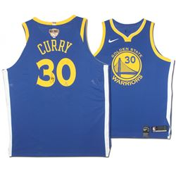 Stephen Curry Signed Warriors Limited Edition Nike Jersey with NBA Finals Patch (Steiner COA)