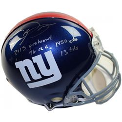 """Odell Beckham Jr. Signed Giants LE Full-Size Authentic On-Field Helmet Inscribed """"2015 Probowl"""", """"14"""