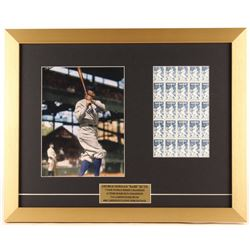Babe Ruth 16x20 Custom Framed Photo Display with Stamp Sheet
