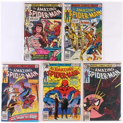 """Lot of (5) 1978-1979 """"The Amazing Spider-Man"""" Marvel Comic Books"""