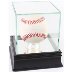 Muhammad Ali Signed OAL Baseball with Inscription and High Quality Display Case (PSA LOA)