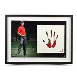 Tiger Woods Signed 20x28 Custom Framed Limited Edition Tegata Print (UDA)
