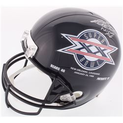 "Richard Dent Signed Bears Full-Size Helmet with Super Bowl XX Logo Inscribed ""MVP XX"" (Schwartz COA)"