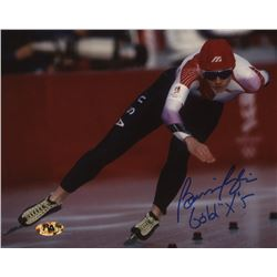 "Bonnie Blair Signed 8x10 Photo Inscribed ""Gold x 5"" (MAB Hologram)"