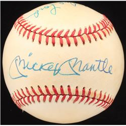 Mickey Mantle  Whitey Ford Signed OAL Baseball (JSA LOA)