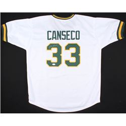 Jose Canseco Signed Athletics Juiced Jersey (JSA COA)