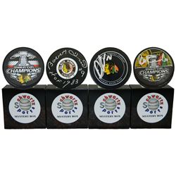 Chicago Blackhawks Signed Mystery Box Logo Hockey Puck - Champions Edition Series 5 (Limited to 100)