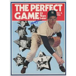 """1956 World Series """"The Perfect Game, 25 Years Later"""" Magazine Insert Signed by (9) With Pee Wee Rees"""