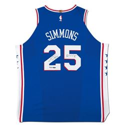 """Ben Simmons Signed 76ers Authentic Jersey Inscribed """"ROY 18"""" (UDA COA)"""
