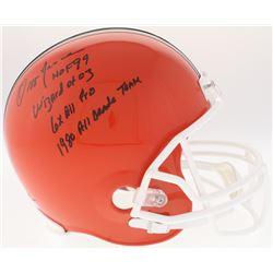 "Ozzie Newsome Signed Browns Full-Size Helmet Inscribed ""HOF 99"", ""Wizard of Oz"", ""6x All Pro""  ""1980"