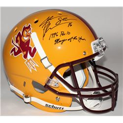 """Jake Plummer Signed Arizona State Sun Devils Full-Size Helmet Inscribed """"1996 Pac 10 Player of the Y"""