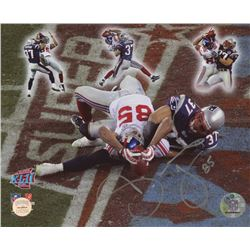 "David Tyree Signed ""Miracle in The Desert"" Super Bowl XLII 8x10 Photo (Gridiron Legends COA)"