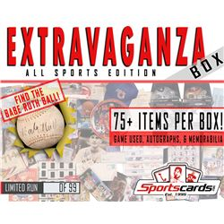 """EXTRAVAGANZA BOX"" All-Sports Edition! Game Used, Autographs  Memorabilia Mystery Box"