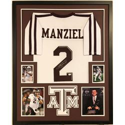 Johnny Manziel Signed Texas AM Aggies 34x42 Custom Framed Jersey (JSA COA)