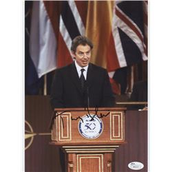 Tony Blair Signed 8.5x11 Photo (JSA COA)