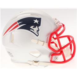 Julian Edelman Signed Patriots Speed Mini-Helmet (JSA COA)