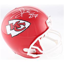 Travis Kelce Signed Chiefs Full-Size Helmet (JSA COA)