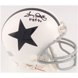 "Tony Dorsett Signed Cowboys Throwback Mini Helmet Inscribed ""HOF 94"" (JSA COA)"