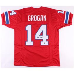 Steve Grogan Signed Patriots Jersey (Jersey Source COA)