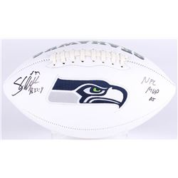 "Shaun Alexander Signed Seahawks Logo Football Inscribed ""NFL MVP 05"" (Beckett COA)"