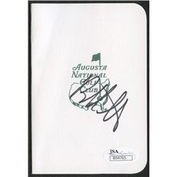 Bubba Watson Signed Augusta National Golf Club Scorecard (JSA COA)