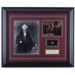 Samuel F.B. Morse 19.5x23.5 Custom Framed Cut Display with (1) Hand-Written Word from Letter (PSA LO