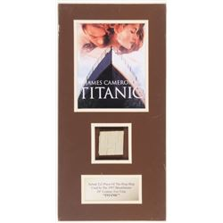 """Titanic"" 9.5x19 Custom Matted Movie Prop Ship Piece Display"