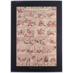 "1939 Original ""Silly Symphony"" Disney Comic Strip 18x25 Custom Matted Display"