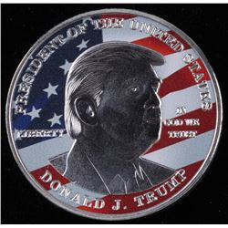 2017 Donald Trump Presidential Silver Plated Colorized Souvenir Coin