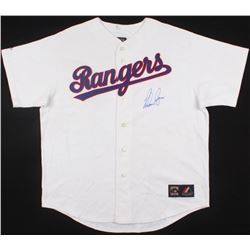 Nolan Ryan Signed Rangers Mitchell  Ness Throwback Jersey (Ryan Hologram)