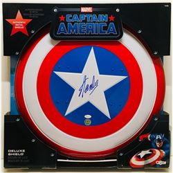 "Stan Lee Signed Full-Size All Metal 24"" Replica Captain America Shield (JSA COA)"