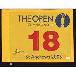 Jack Nicklaus Signed 2005 St. Andrews The Open Championship Pin Flag (JSA LOA  Palm Beach COA)