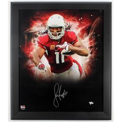 Larry Fitzgerald Signed Cardinals 23.5x27.5 Custom Framed Photo Display (Fanatics Hologram)