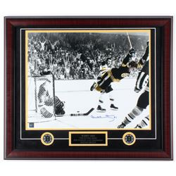 "Bobby Orr Signed Bruins ""The Flying Goal"" 23x27 Custom Framed Photo Display (Great North Road COA)"