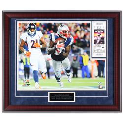 "Brandon LaFell Signed Patriots ""Super Bowl XLIX Champion"" 23x27 Custom Framed Photo Display with Tic"