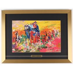 "LeRoy Neiman ""Homage to Remington"" 16x 21 Custom Framed Print Display"