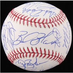 Rockies OML Baseball Team-Signed by (24) With Carlos Gonzalez, Charlie Blackmon, Trevor Story, Bud B
