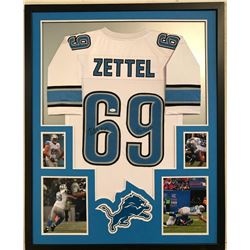 "Anthony Zettel Signed Lions 34x42 Custom Framed Jersey Inscribed ""Go Lions! (JSA COA)"