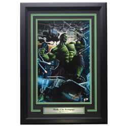 "Greg Horn Signed ""Hulk: City Rampage"" 15x21 Custom Framed Lithograph Display (Sports Integrity COA)"