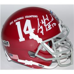A.J. McCarron Signed Alabama Crimson Tide 2012 National Champions Mini-Helmet (Radtke COA)