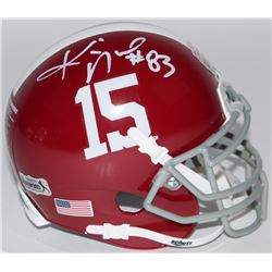 Kevin Norwood Signed Alabama Crimson Tide Mini-Helmet (Radtke COA)