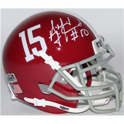 A.J. McCarron Signed Alabama Crimson Tide Mini-Helmet (Radtke COA)