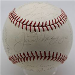 Yankees Hall of Famers  Greats Vintage Baseball Signed by (20) with Joe DiMaggio, Yogi Berra  Johnny