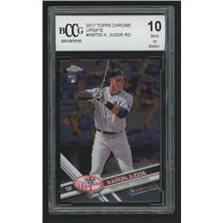 2017 Topps Chrome Update #HMT50 Aaron Judge RD (BCCG 10)