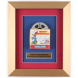 "Vintage 1950's Walter Lantz ""Woody Woodpecker"" 10x12 Custom Framed Film Reel Display"