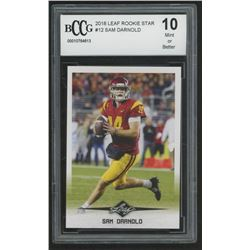 2018 Leaf Rookie Star #12 Sam Darnold (BCCG 10)
