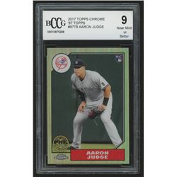 2017 Topps Chrome '87 Topps #87T8 Aaron Judge (BCCG 9)